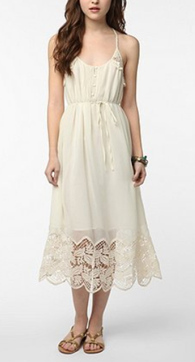 gauzy silk & lace summer dress from Urban Outfitters