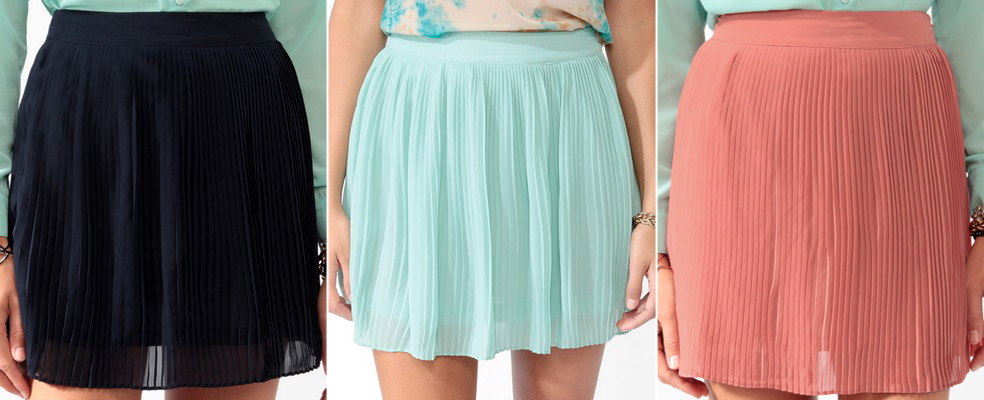 Forever 21 high waist pleated skirt