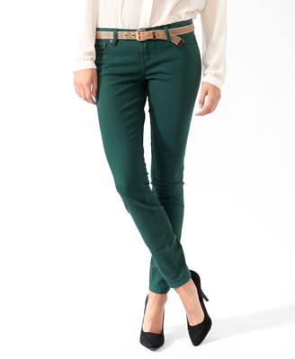 Forever 21 hunter green skinny jeans