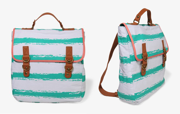 Forever 21 mint striped backpack