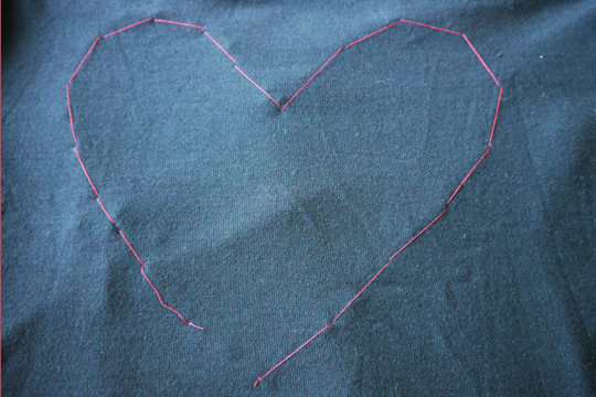 heart sweater diy - inside stitches