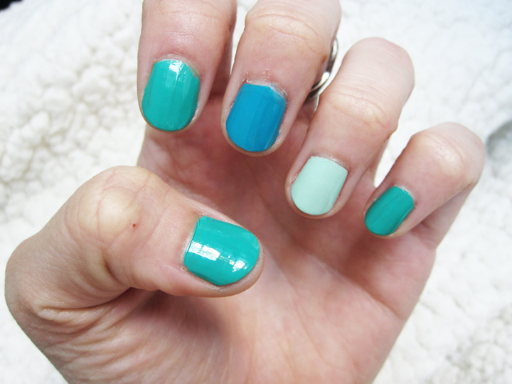 notd - shades of green, mint, teal