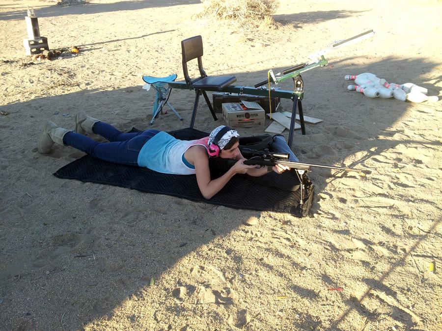 Shooting Derek's .22 rifle