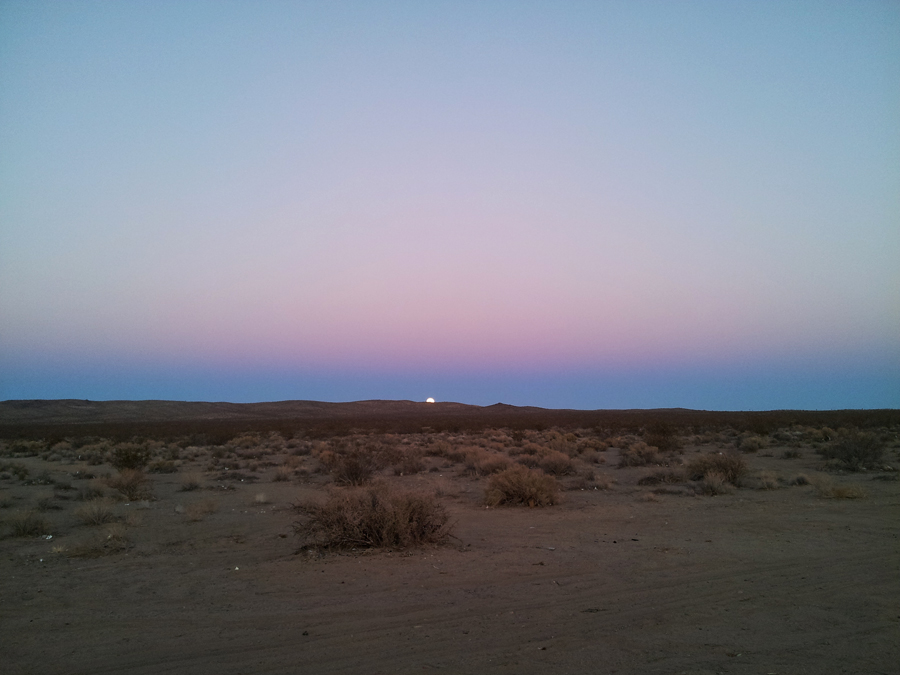 The moon rising on our first night in the desert was beautiful!  Pictures just don't do it justice...