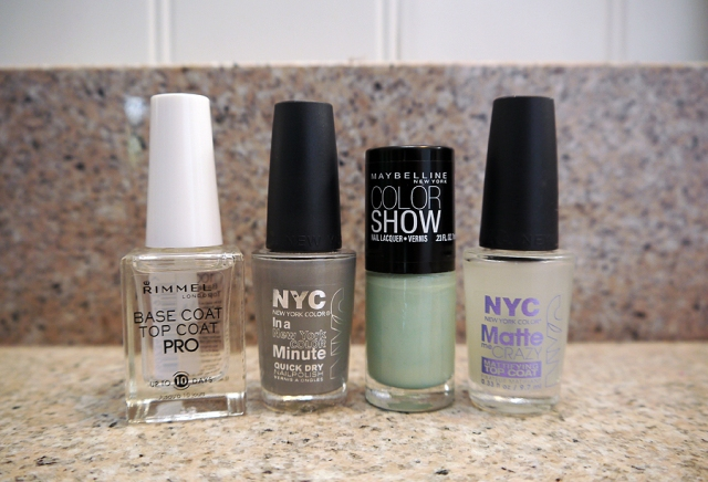 mint-gray-base-top-coat-nail-polish