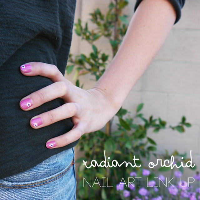 #RadiantOrchid-nails