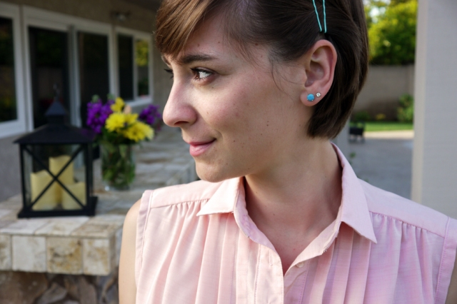 #TST-Pastels-pink-tunic-turquoise-earrings