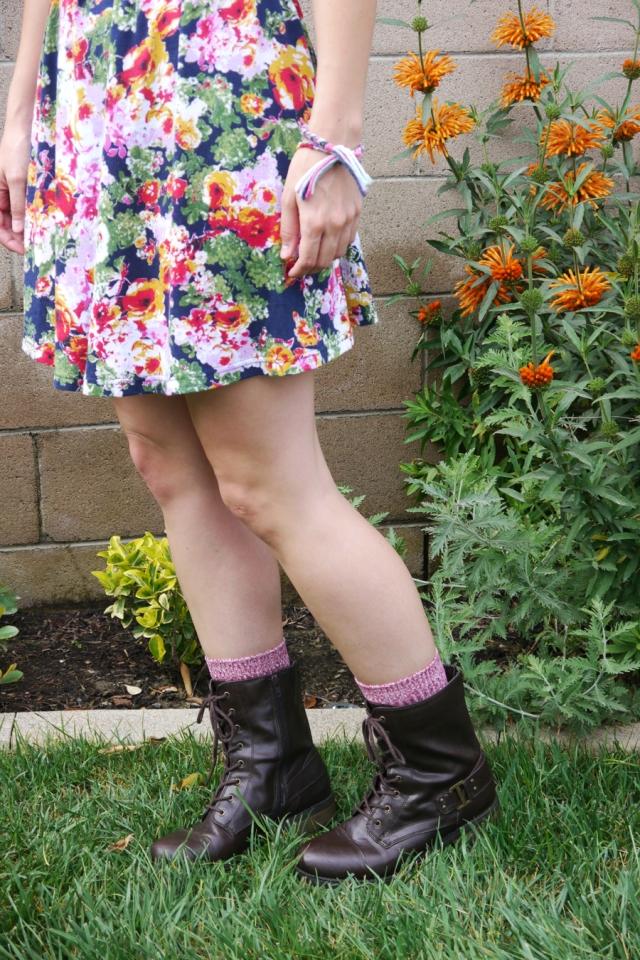 Thrift-Style-Thursday-90s-floral-dress-combat-boots