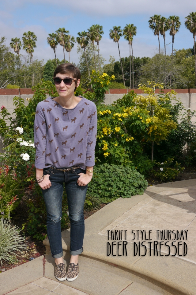 Thrift-Style-Thursday-deer-sweater-distressed-jeans-leopard_title