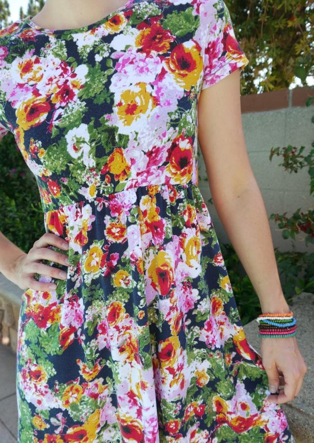 Thrift-Style-Thursday-floral-dress-bead-bracelets