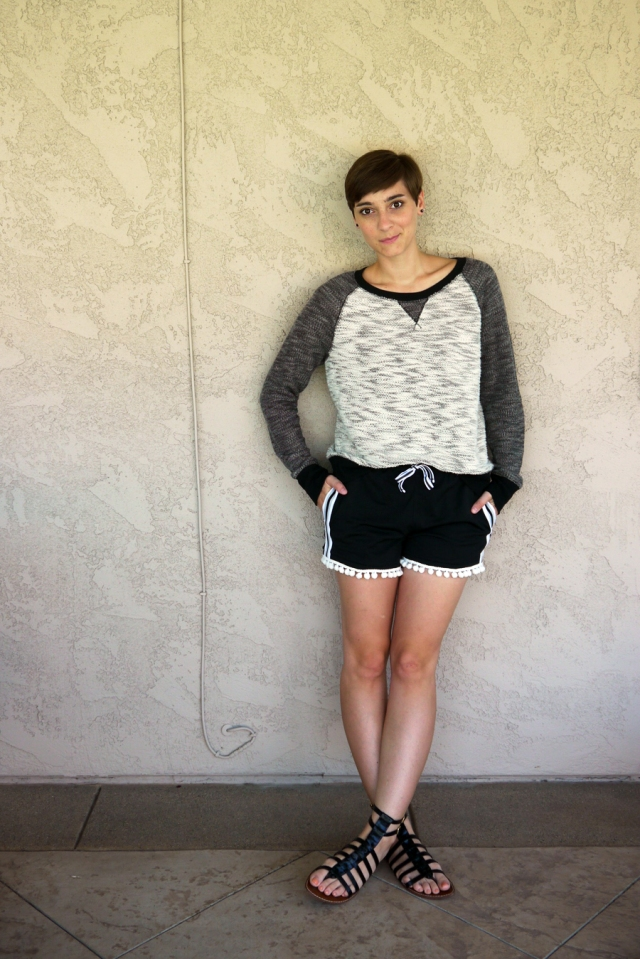 Thrift-Style-Thursday-mesh-pom-pom-shorts-sweater-gladiator-sandals_01