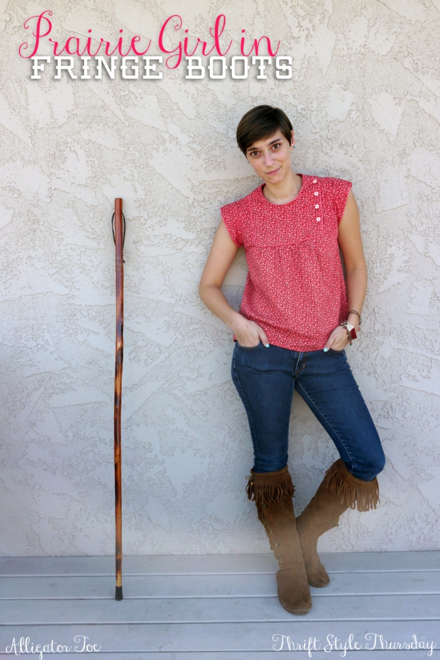 Thrift-Style-Thursday-fringe-moccasin-boots-prairie-peasant-top_title