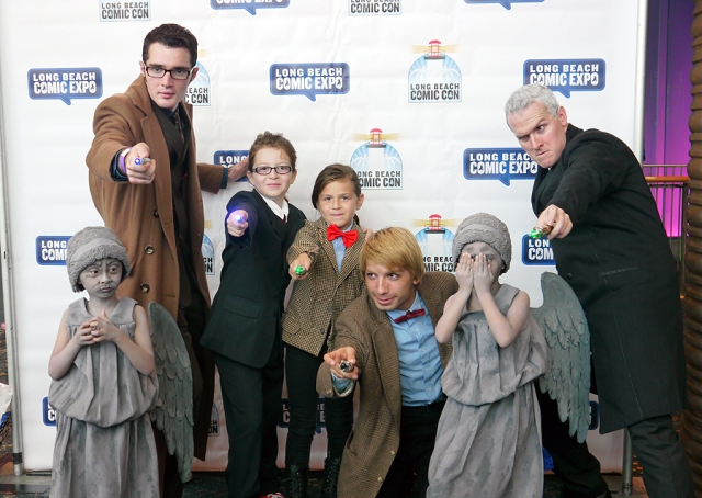 It's the Doctors!  And check out those awesome little girls dressed as weeping angels!