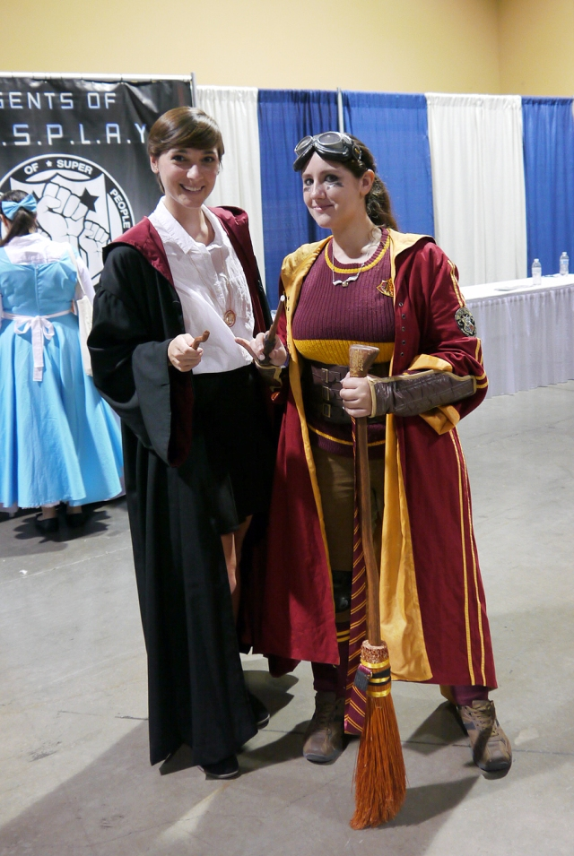 One of the only other Harry Potter cosplayers at the convention, but isn't her quidditch uniform great?