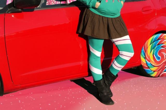 thrifted-Vanellope-Von-Schweetz-costume-cosplay-leggings