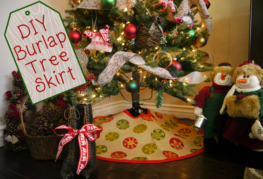 Delightfuldiy burlap tree skirt delightfully kristi delightfuldiy burlap tree skirt delightfully kristi solutioingenieria Gallery